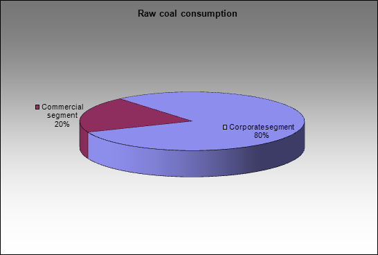 EvrazHolding - Raw coal consumption