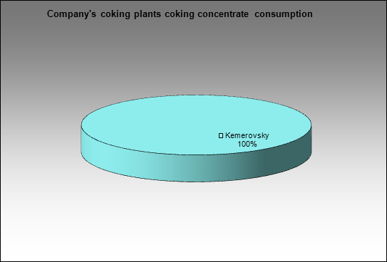 Kemerovokoks - Company's coking plants coking concentrate consumption