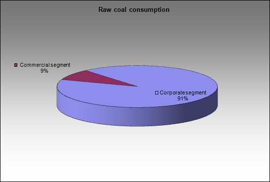 Sibuglemet - Raw coal consumption