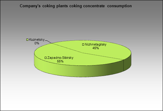 EvrazHolding - Company's coking plants coking concentrate consumption