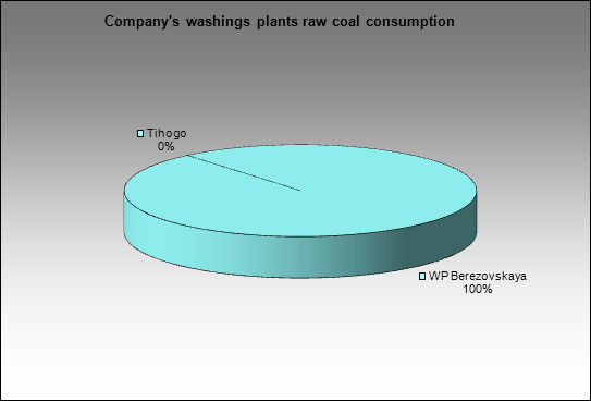 Kemerovokoks - Company's washings plants raw coal consumption